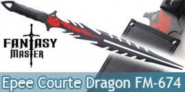 Epee Double Lame Dragon Fantasy Master FM-674