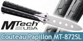 Couteau Papillon Balisong Entrainement Silver MT-872SL