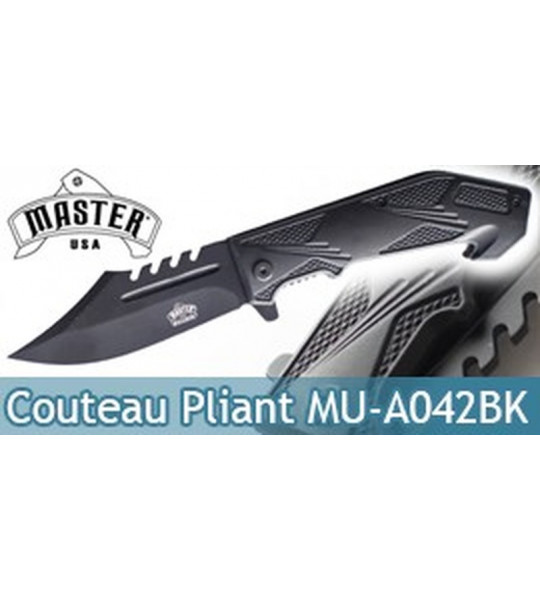 Couteau Pliant Black Master USA MU-A042BK