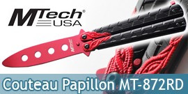 Couteau Papillon Balisong Entrainement Red MT-872RD