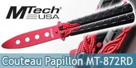 Couteau Papillon Balisong Entrainement Red MT-872RD
