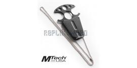 Couteau Push Dagger Neck Knife Mtech MT-20-49BK