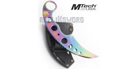 Couteau Karambit Rainbow Mteh USA MT-664TI