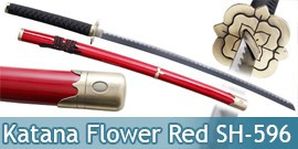 Katana Red Flower Epee Sabre Decoration SH-596