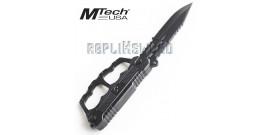 Poignard Poing Americain Black Couteau MT-20-42BK