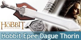 Le Hobbit Epee Courte de Thorin Sabre Dague 61cm