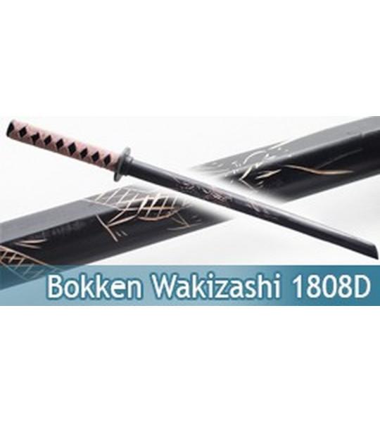 Bokken Wakizashi Dragon Sabre Bois Epee 1808D
