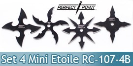Lot 4 Mini Shurikens Ninja Etoile de Lancer RC-107-4B
