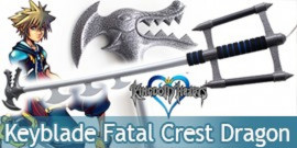 Kingdom Hearts Keyblade Fatal Crest Dragon Replique