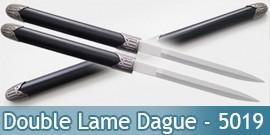 Double Lame Dague Epee Courte Ninja Sabre 5019