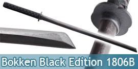 Bokken Epee en Bois Sabre Entrainement Black Edition