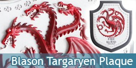 Game of Thrones - Blason de la Maison Targaryen Plaque
