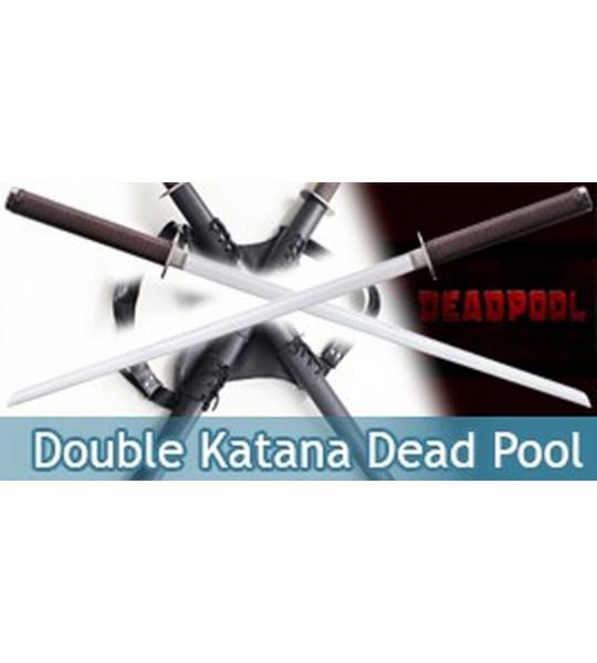 Double Katana Deadpool Epee Sabre Wade Wilson