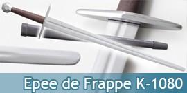 Epee de Frappe d'Entrainement Lame Emoussée K-1080