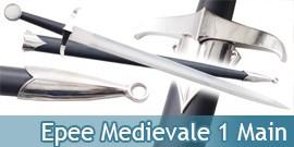 Epee Médiévale + Fourreau Décoration 1 Main