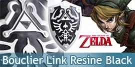 Zelda Bouclier de Link Résine Black Edition Replique