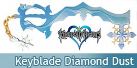 Kingdom Hearts Keyblade Diamond Dust Gemme de Glace