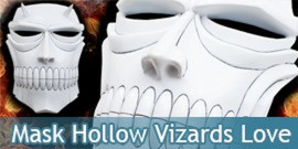 Mask Hollow Vizards Love Aikawa Masque Cosplay Masque