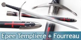 Epee Templiere + Fourreau Black Edition