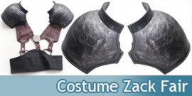 Costume Zack Fair Cosplay avec Epauliere