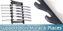 Support Bois Murale 6 Places Katana Epee Sabre Presentoir