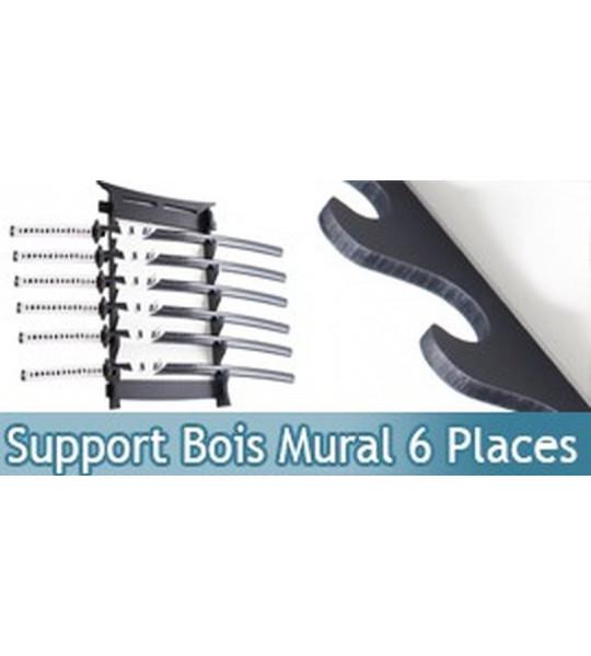 Support Bois Murale 6 Places Katana Epee Sabre Presentoir