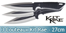 Set 3 Couteaux de Lancer Kit Rae Blackjet KR0032B