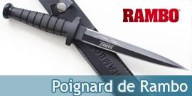 Couteau Rambo Double Tranchant Poignard Dague