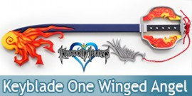 Kingdom Hearts Keyblade One Winged Angel Fire Feu