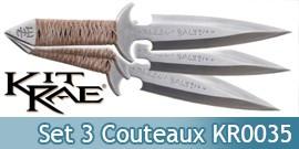 Set 3 Couteaux de Lancer Kit Rae Blackjet KR0035