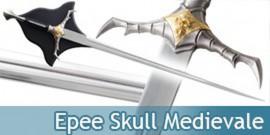 Epee Skull Medievale Decoration Fantasy Decoration