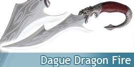 Dague Dragon Fire Poignard Fantasy Decoration