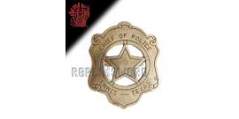 Etoile de Sherif Chef de Police Badge Replique Acier