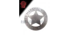 Etoile de Marshal Chef de Police Badge Replique Acier