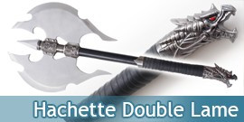 Hache Double Lame Decoration Hachette Medievale