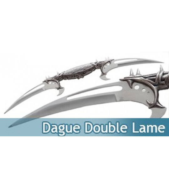 Achat dague a double lame pas cher couteau fantasy hk759 - Lame vinyle clipsable pas cher ...