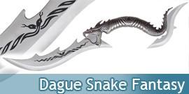 Dague Snake Fantasy Decoration Double Lame