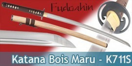Fudoshin - Katana Forgé Bois Maru - K711S Sans Coffret