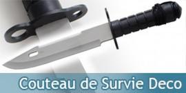 Poignard Type Rambo Couteau de Survie Replique Deco