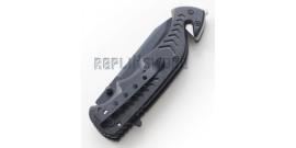 Couteau Pliant Pompier Tactique Black Edition