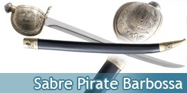 Epee Barbossa Sabre de Pirates des Caraibes Replique