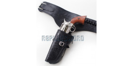 Western Holster Noir Cowboy Porte Pistolet 2 Places