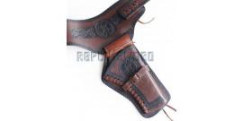 Ceinturon Cowboy Porte Pistolet Ceinture 1 Place