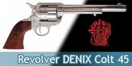 Revolver DENIX Colt 45 Cowboy Western Replique Gris