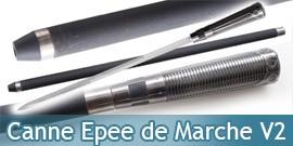 Canne Epee de Marche Decoration Replique Silver V2