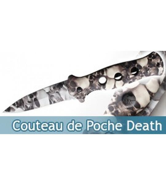 Couteau de Poche Death Tete de Mort Couteau Pliant