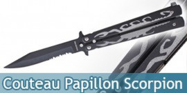 Couteau Papillon Noir Black Scorpion 812