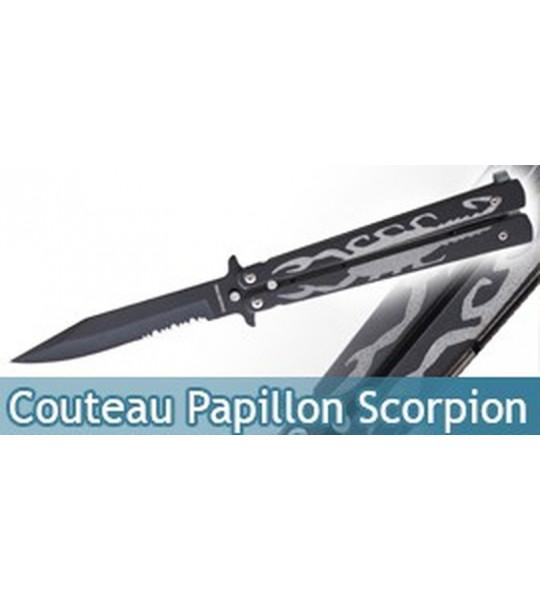 Couteau Papillon Noir Black Scorpion 812