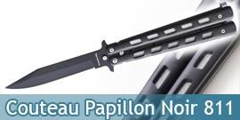 Couteau Papillon Noir Black Edition 811