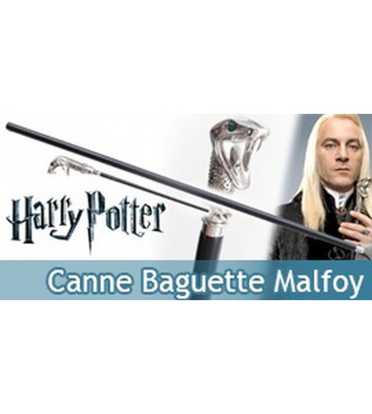 Harry Potter Canne Serpent de marche Malfoy Baguette